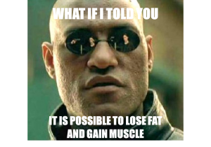 is it possible to lose fat and gain muscle